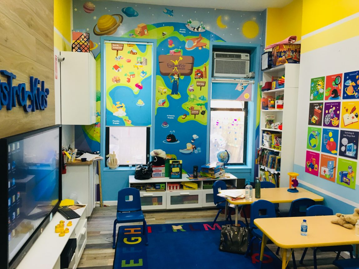 Day one:  Preschool Class at FasTracKids on the Upper East Side